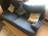 Sofa comfy blue washable covers