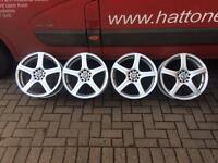 "5x100+5x114,3 wheels fits Audi Seat Skoda Volkswagen Mitsubishi Honda Nissan Subaru Toyota 17"""