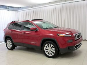 2017 Jeep Cherokee LIMITED 4X4 SUV w/ HEATED SEATS, NAV, BACKUP