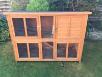Great Guinea pig rabbit cage hutch 5 foot large 2 storey good condition
