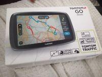 Tom Tom GO 6000. Includes lifetime traffic and lifetime maps.as new.sat nav.