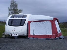 Caravan Awning, Pyramid Tuscany, 1000 model. Includes all accessories and groundsheet.