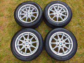 "Genuine BMW Star-Spoke Alloy Wheels 16"" x 7J Avon 225 50 16 Tyres Z4 Alloys Set"