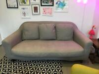 Grey habitat sofa plus footstool