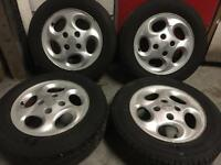 "Peugeot alloy wheels 14"" with tyres"