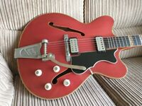1964 vintage Hofner Verithin Bigsby electric guitar, collection only