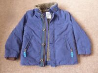 Boys Boden Navy Coat Age 7-8 Years