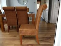 6 Wicker style Dining Chairs
