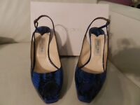 Jimmy Choo blue python shoes