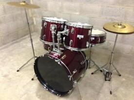 Drum kit Boston drums cymbals stands pedal