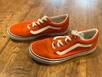 Size 5 orange Vans. Excellent condition.