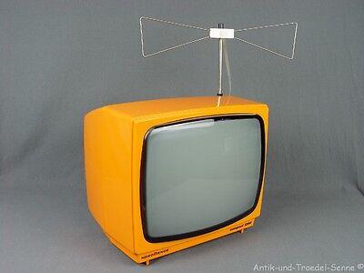 NORDMENDE COMPACT 1200 Tragbarer Fernseher orange 70er Jahre