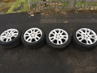 17 inch Jaguar x type sport v6 alloys xtype jaguar headlights side mirror alloys rims rimz.