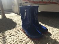 Clarks blue and red size 6 toddler wellies