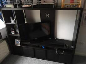 Ikea black Brown TV unit