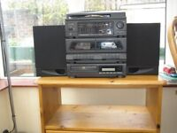 Small CD system and multi system plus small chest of drawers