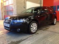 Black, Audi A3 2.0l TDI Sportback, 12 months MOT, only £4900 ono!