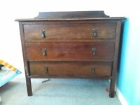 CHEST OF 3 DRAWERS - antique dark wood