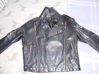 Black leather look bikers jacket