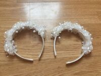 Hand made flower girl head bands
