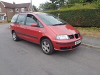 seat Alhambra 7 seater very good runner, hpi clear,