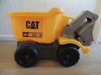 big CAT yellow truck