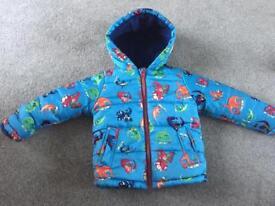 Boys fleece lined winter coat, age 1.5-2 from TU
