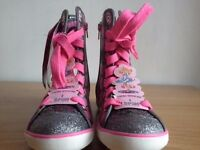 BELLA B KIDS HIGH TOP SKECHERS WITH A SPIN