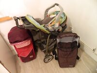 GRACO Classic Connect pushchair + car seat + 2 baby moses baskets