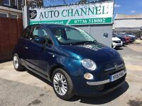 Fiat 500 1.2 Lounge 3dr (start/stop)£5,485 p/x welcome 1 YEAR FREE WARRANTY. NEW MOT