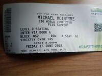 2 x Michael Mcintyre tickets
