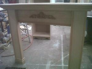 solid oak fire place mantel