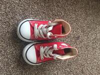 Size 4 infant red converses.