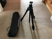 Manfrotto Camera Tripod With Carry Case Hardly Used
