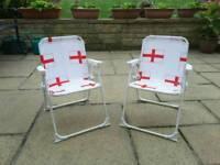 Childrens folding 'ENGLAND' chair
