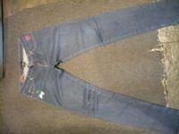 Ladies Criminal Damage embroidered jeans for sale