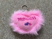 'Princess' Plush Fluffy Keyring