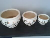 Ceramic Plant Pot Holders.
