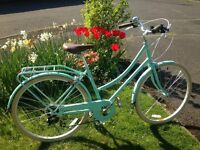 Bobbin Brownie Ladies Vintage Style Bicycle St Ives Green - nearly new!