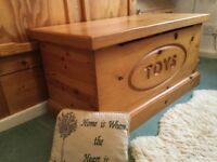 LARGE pine toy box ... well made, heavy