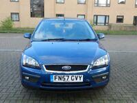 Ford FOCUS ZETEC, 2008 (57 Reg) Blue Hatchback, Full service history, Cambelt changed