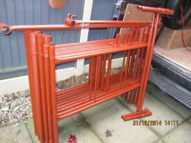 Steel Scaffold Tower 4' x 4' x 19' Working Height. Never Used.