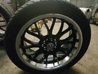 """17"""" Multi fit Alloys with excellent tyres"""