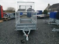 BRAND NEW MODEL 8.7 x 4.2 SINGLE AXLE WITH 80CM MESH TRAILER 750KG