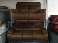 New/Ex Display LazyBoy 3 Seater + 2 Seater Electric Recliner Sofas