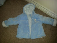 BABY BLUE BOYS DESIGNER (LITTLE VIPS) SOFT JACKET (12MONTHS)