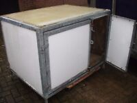 GALVANISED INDESTRUCTABLE INSULATED DOG BOX KENNEL