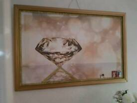 Large diamond picture frame