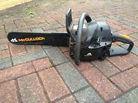Petrol chainsaw mcculloch