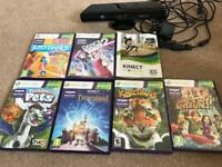 Xbox360 Kinect and 6 games